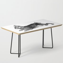 The Rabbit and Roses | Black and White Coffee Table