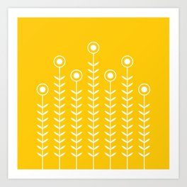 Minimalist Flowers (Crocus Yellow) Art Print