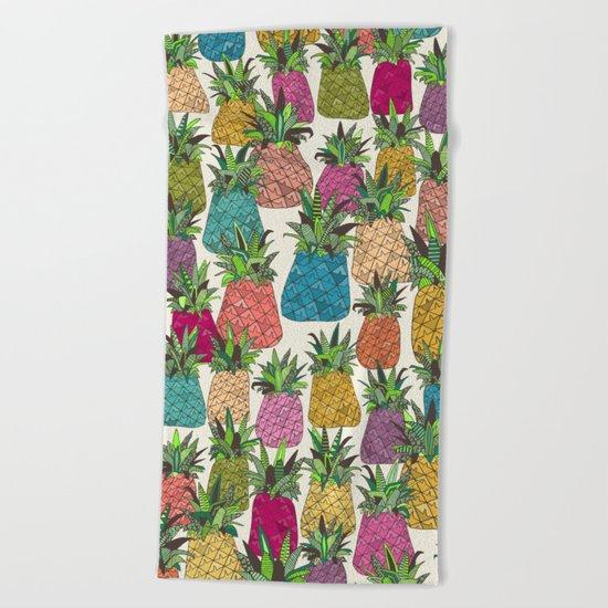 West Coast pineapples Beach Towel