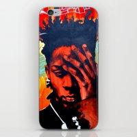 basquiat iPhone & iPod Skins featuring Basquiat  by jack shaftoe