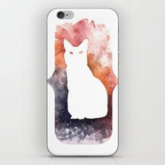 White Cat iPhone & iPod Skin