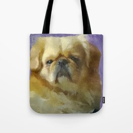 Lion Dog Tote Bag