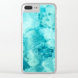 Painted Seas Clear iPhone Case