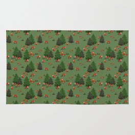 Foxes in the forest Rug