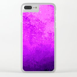 Purple Light Cave Clear iPhone Case