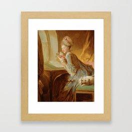 """Jean Honoré Fragonard (1732–1806) """"The Love Letter"""" Framed Art Print"""