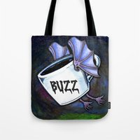 buzz lightyear Tote Bags featuring BUZZ by 2headedsnake