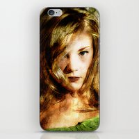 thrones iPhone & iPod Skins featuring Portrait of Natalie Dormer (tutors / game of thrones) by André Joseph Martin