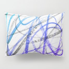 Expressive and Spontaneous Abstract Marker Pillow Sham