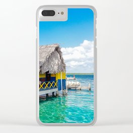 Huts of Panama Clear iPhone Case
