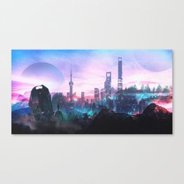 Io Alpha: Scifi City Canvas Print