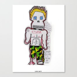 Spike Steve Canvas Print