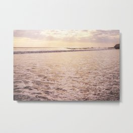 Quiet Moments on Cayucos Beach Metal Print