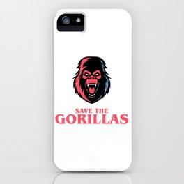 Save the Gorillas iPhone Case