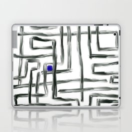 Small Square and Blue Laptop & iPad Skin