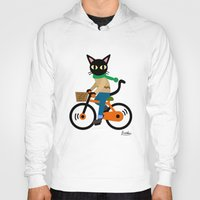 cycling Hoodies featuring Whim's cycling by BATKEI