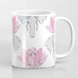 Elephants and Lotus Flowers Coffee Mug