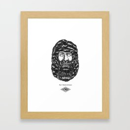 Homem do bussaco Framed Art Print