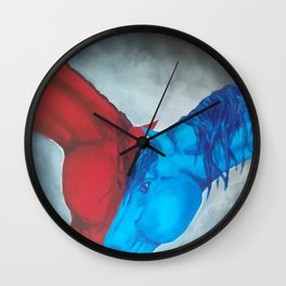 Fire and Water Wall Clock