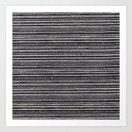 Modern black white geometrical stripes pattern Art Print