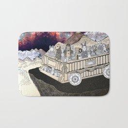 Animals on a Wagon Bath Mat