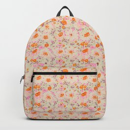 Faded Floral  - pink / citrus Backpack