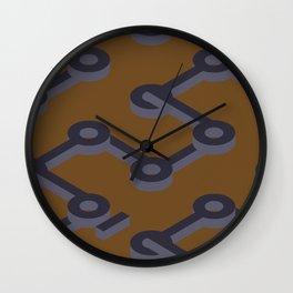Orange Abstract Keyhole Geo Wall Clock