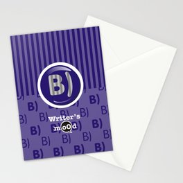 Indigo Writer's Mood Stationery Cards