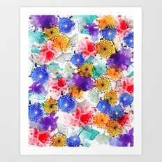 Printed Silk Exotic Garden Art Print