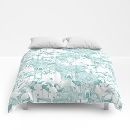 just goats teal Comforters