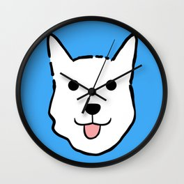 Malachi the Huskimo Dog (Blue) Wall Clock