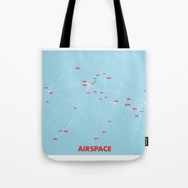 Air route and airport hub Airspace map Tote Bag