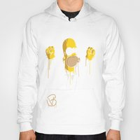 simpson Hoodies featuring Mr Homer Simpson by Lewismv3
