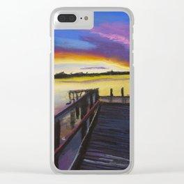 Shelley Bridge Sunset Clear iPhone Case