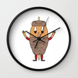 Kebab-Skewer Egg Wall Clock
