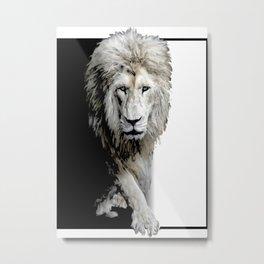 yin yang lion Metal Print