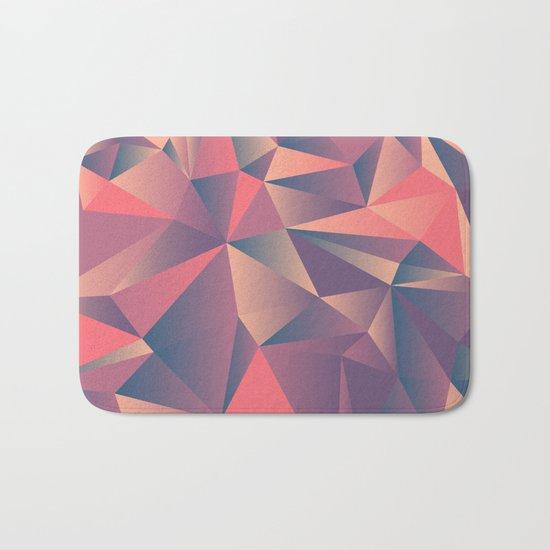pink purple vintage color geometric Bath Mat