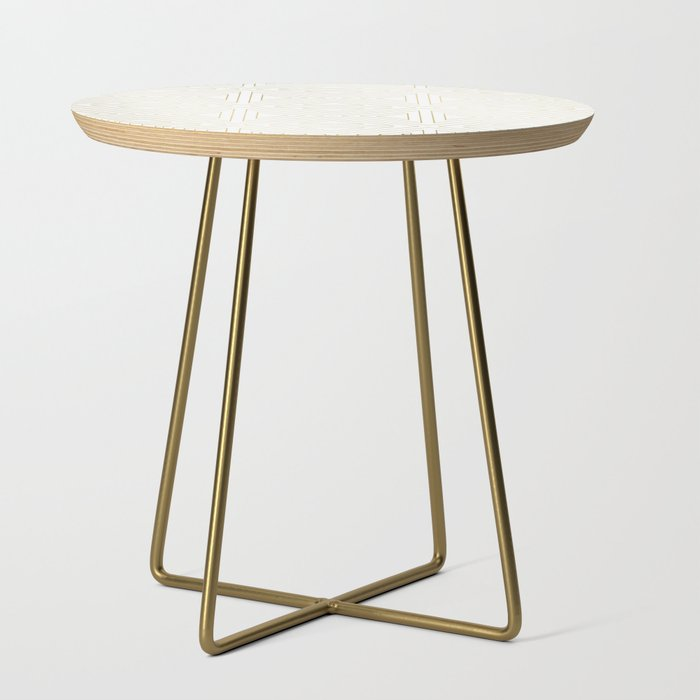 Angled White Gold Side Table By Caitlinworkman