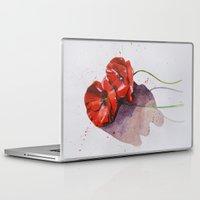 poppies Laptop & iPad Skins featuring Poppies by Alina Rubanenko