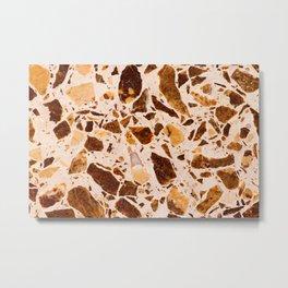 Brown Chip Marble Metal Print