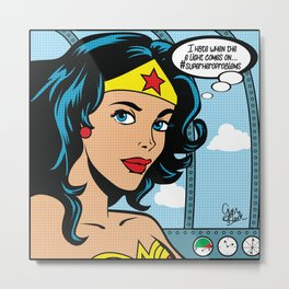 #superheroproblems Metal Print