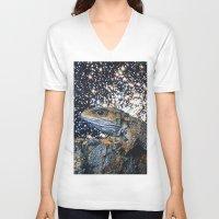 lizard V-neck T-shirts featuring Lizard by John Turck