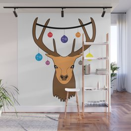 Merry christmas Reindeer #society6 #decor #buyart #artprint Wall Mural