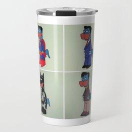 Man of steel and the bat Travel Mug