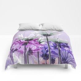 Purple Lavender Flowers Comforters