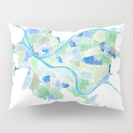 Pittsburgh Neighborhood Map Pillow Sham