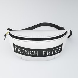 French Fries Old Typewriter Letters Fanny Pack