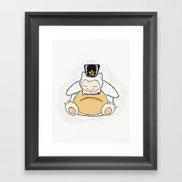 Snolax wakes you Framed Art Print