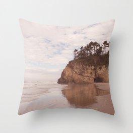 Oregon Coast - Hug point Throw Pillow