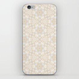 Golden Geo Stars iPhone Skin